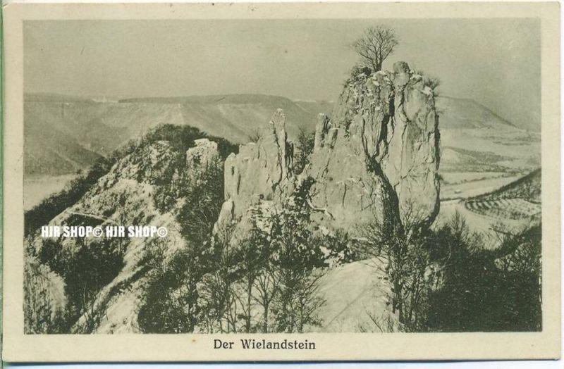 """um 1920/1930  Antsichtskarte,  """"Der Wielandstein, """"  mit Frankatur, Stempel,"""
