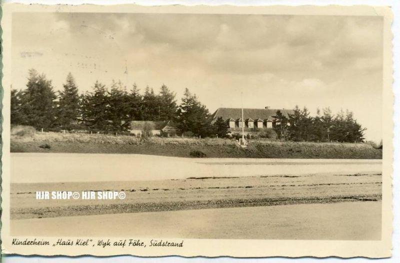 "um 1950/1960  Antsichtskarte,  ""Kinderheim, Haus Kiel, ""  mit Frankatur, Stempel,"