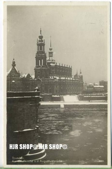 """um 1920/1930  Antsichtskarte,  """"Kath. Hofkirche, """"  mit Frankatur, Stempel,"""