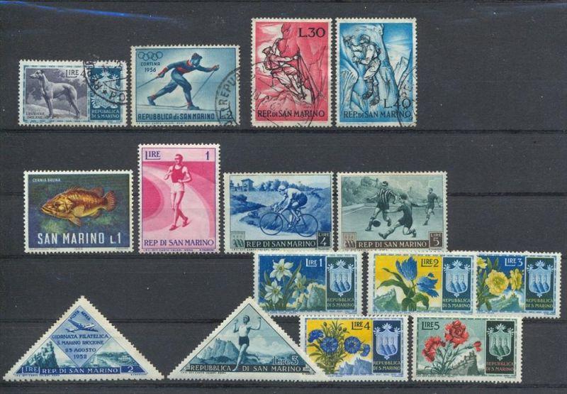 San Marino, Konvol. Briefmarken **, Gestempelt, zustand: Gut
