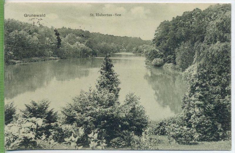 Grunewald, St. Hubertus-See 1930/1940 Verlag: Goldiner , POSTKARTE mit Frankatur, mit Stempel, Halle   Erhaltung: I-II,