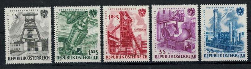 1961 Österreich Minr. 1092-1096** Satz 5 W Zustand: I-II