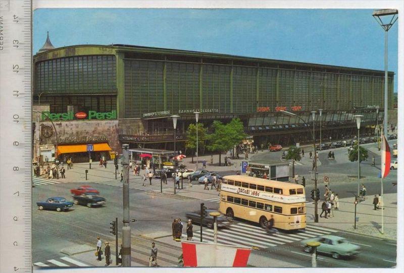 Berlin- Bahnhof Zoo, um 1960/70 Verlag: ---, Postkarte mit Frankatur, mit Stempel, Berlin, 10.03.68, Erhaltung: I-II  Ka
