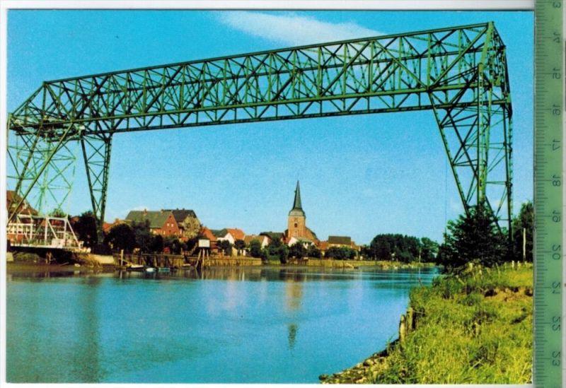 Osten, Technisches Baudenkmal Schwebefähre erbaut, 1908-1909 Verlag: Stramm, St. Michaelisdonn, POSTKARTE Erhaltung: I-I