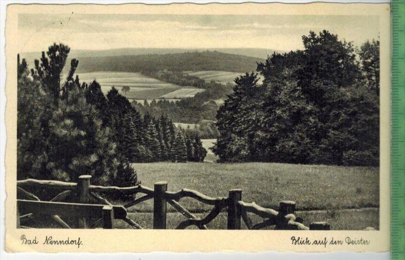 Bad Nenndorf 1937 Verlag: Helene Rabe, Bad Nenndorf Postkarte mit Frankatur  und Stempel, BAD NENNDORF  5.7.37 MIT BEFÖR