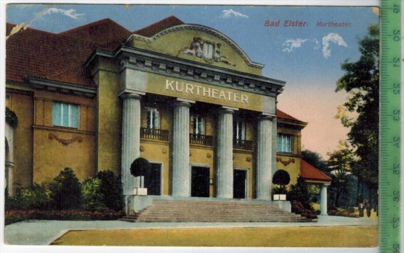 Bad Elster, Kurtheater 1919 Verlag: Ottmar Zieher, München, Postkarte mit Frankatur  und Stempel, BAD ELSTER  13.3.19 MI