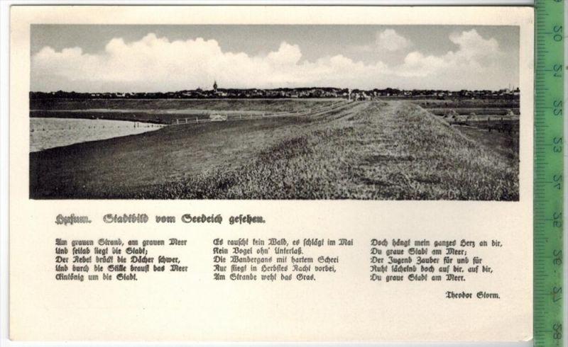 Husum, Stadtbild vom Seedeich gesehen 1940 Verlag: Ferd, Lagerbauer, Hamburg, Postkarte Erhaltung: I-II, Unbenutzt  Kart