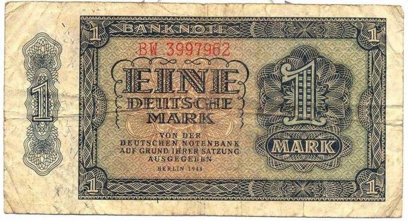 Banknote DDR, Deutsche Notenbank 1948