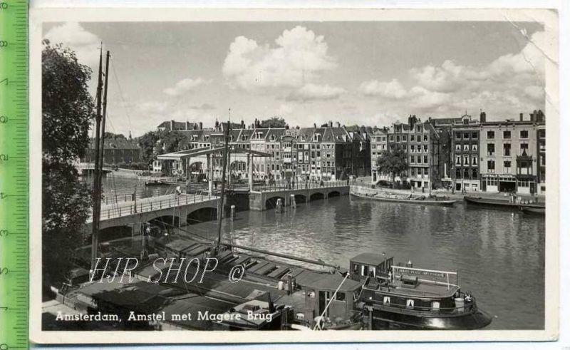 Amsterdam, Amstel met Magere Brug  gel.1953