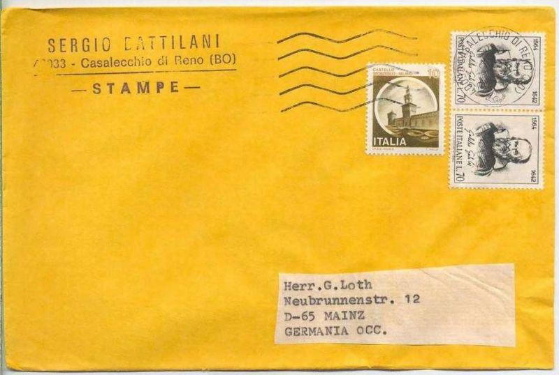 Brief, 00.00.1980, Casalecchio di Reno (BO) – Mainz,