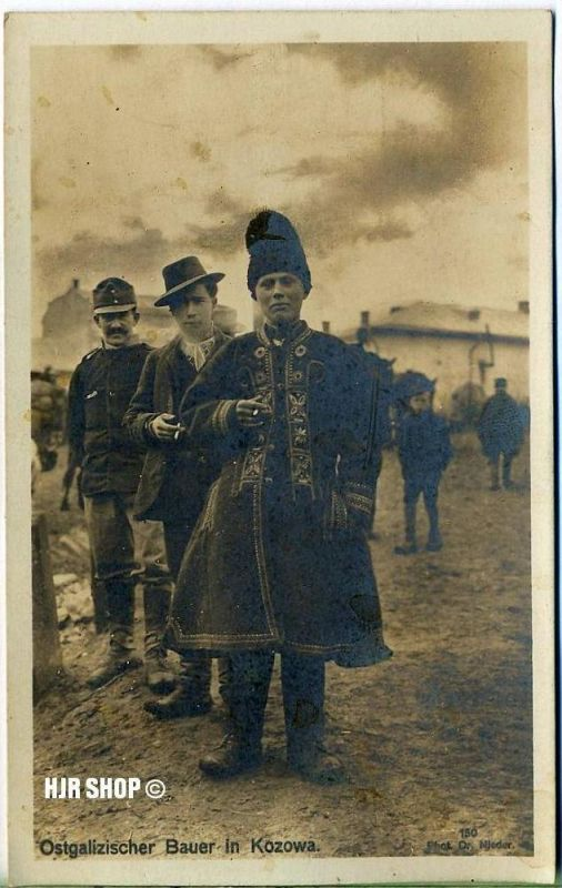 Postkarte, Ostgalizischer Bauer in Kozowa