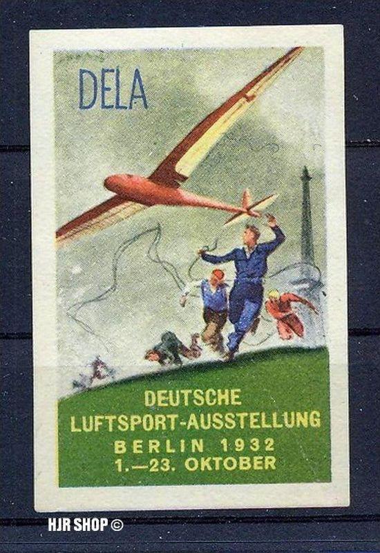 1932 Deutsches Reich Flugvignette DELA