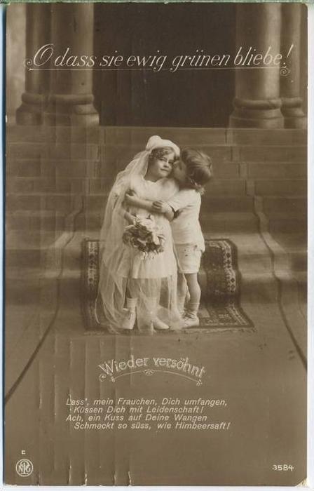 Postkarte:  O dass sie ewig grünen bliebe! 3584