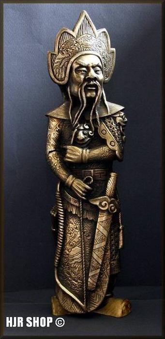China- Wächterfigur - Messingskulptur um 1900 Fein Detailiert bearbeitetes Messingblech auf Speckstein ? überzogen. Maße