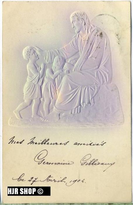 """um 1900/1910 Ansichtskarte """"Jesus"""",  gelaufene Karte"""