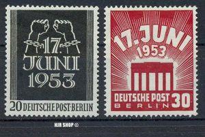1953, 17. Aug. Volksaufstand, 110+111**, Zustand: sehr Gut
