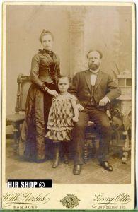 Foto um 1900,  Gerlich Hamburg , Maße 14,3 x 10 cm auf Pappe aufgeklebt