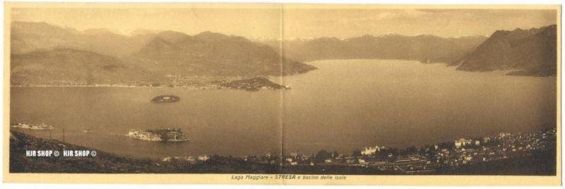 """um 1920/1930 Ansichtskarte,Panorama """"Stresa""""  ungebrauchte Karte"""