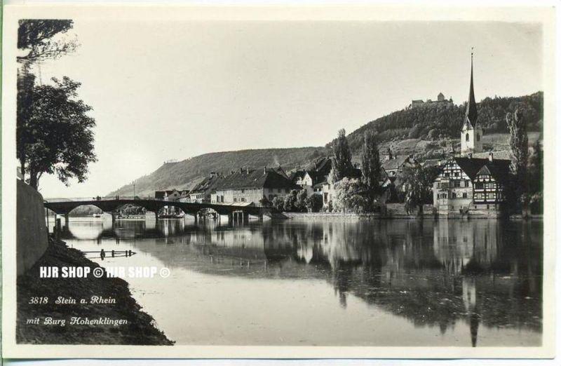 """um 1920/1930 Ansichtskarte,  """"Stein am Rhein""""  ungebrauchte Karte"""