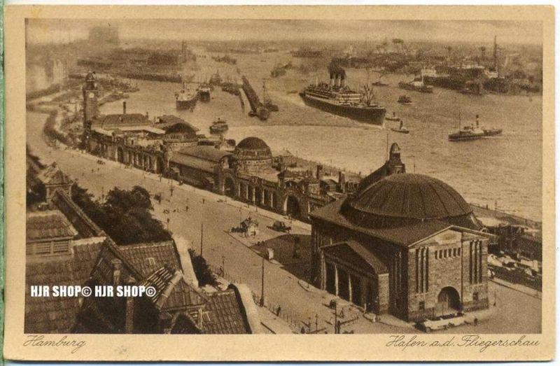 """um 1920/1930  Antsichtskarte,  """"Hafen""""  mit Frankatur, Stempel"""