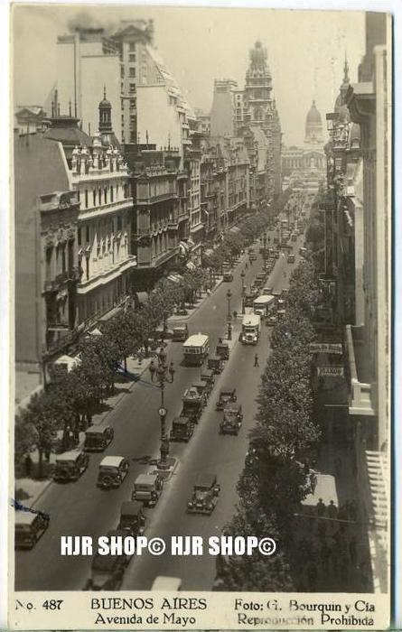 """um 1920/1930  Antsichtskarte,  """"BUENES AIRES """"  mit Frankatur, Stempel,"""