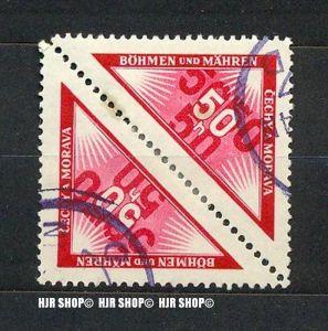 1939, Böhmen und Mähren, Portomarke, MiNr.15 Paar gest