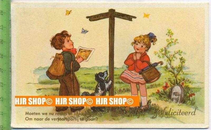 """""""Haiteliek Gefeliciteerd"""" um 1950/1960, Ansichtskarte  ungebrauchte Karte"""