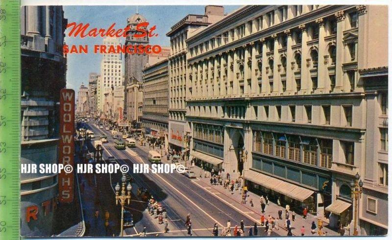 """""""San Francisco, Market Str."""",   Ansichtskarte  ungebrauchte Karte"""
