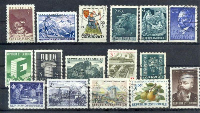 Österreich, Republik, Konvol. Briefmarken 16 Stck. Gestempelt, zustand: Gut