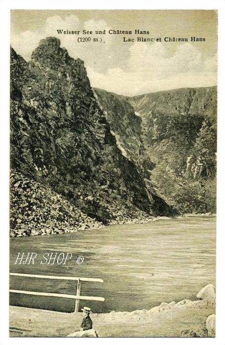 Weisser See und Chateau Hans (1200 m), gelaufen 3.09.1906 Urbeis