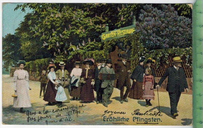 Hamburg, Fröhliche Pfingsten 1910Verlag: --------------, –  PostkarteFrankatur,  Stempel,  HAMBURG   13.5.10Maße:1
