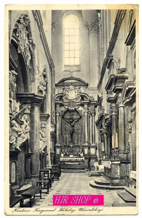 Krakau Fragment Katedry  Wawelskiej, Gel. Feldpost 30.04.1941 Krakau 1