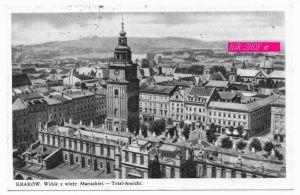Krakau. Widok z wiezy Mariackiej.-Total-Ansicht, Gel. Feldpost 12.02.1940 Krakau1