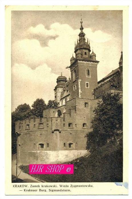 Krakauer Burg Sigmundsturm Gel. Feldpost 10.01.1940 Krakau1