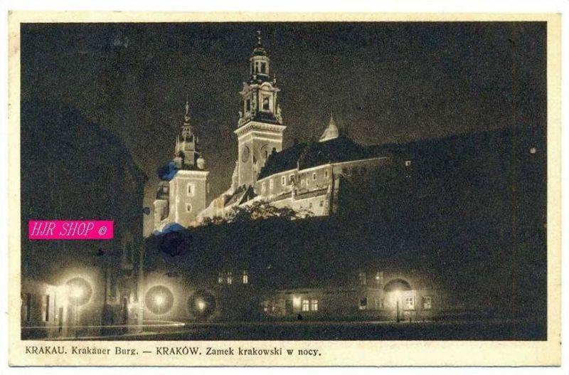 Krakauer Burg bei Nacht,  Gel. Feldpost 5.04.1941 Krakau1