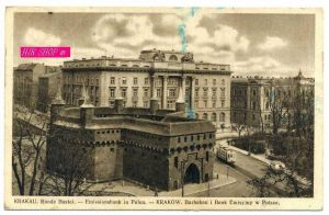 Krakau. Runde Bastei. Emissionsbank in Polen,  Gel. Feldpost 17.04.1941 Krakau1