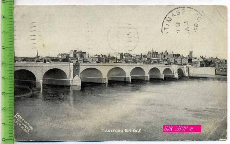 Hartford Bridge Gel. 8.01.1910/ Hartford. Conn.