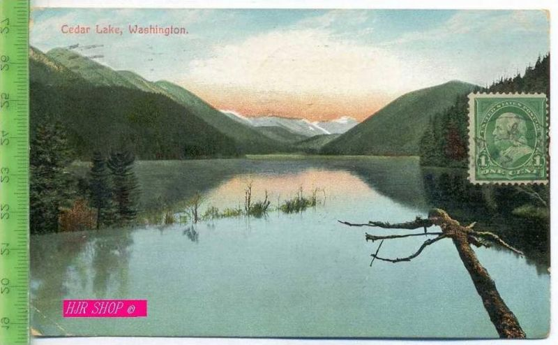 Cedar lake, Washington. Gel. 1.06.1910 /Seattle. Wash.