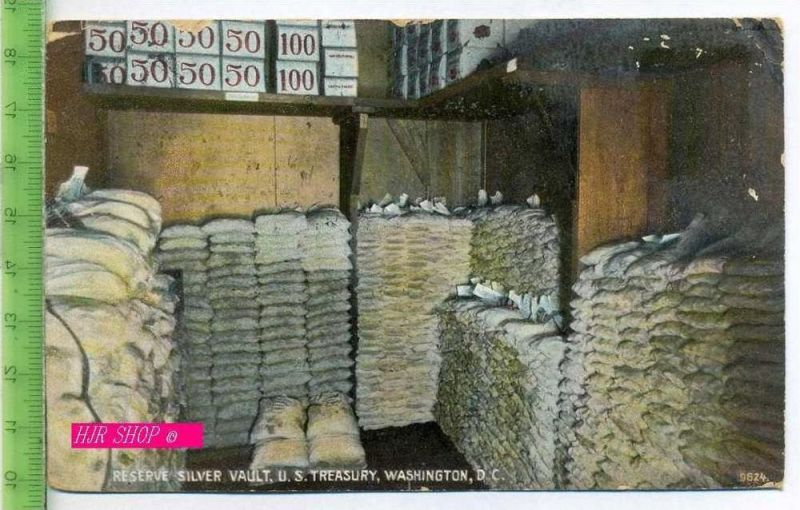 Reserve Silver Vault. U.S. Treasury, Washington, DC. Gel. 26.05.1910/ Washington