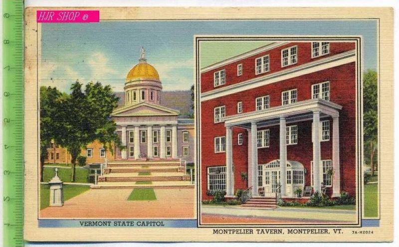 Vermont State Capitol, Montpelier Tavern, Montpelier, VT. Gel. 21.08.1939 / Montpelier