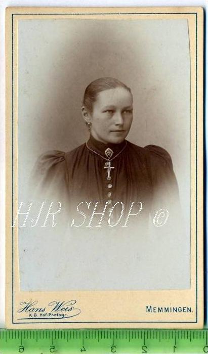 Hans Weis, Memmingen vor 1900 kl.. Format, s/w., I-II,