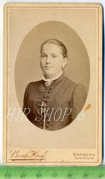 Bernh. Haaf, Bamberg vor 1900 kl.. Format, s/w., I-II,