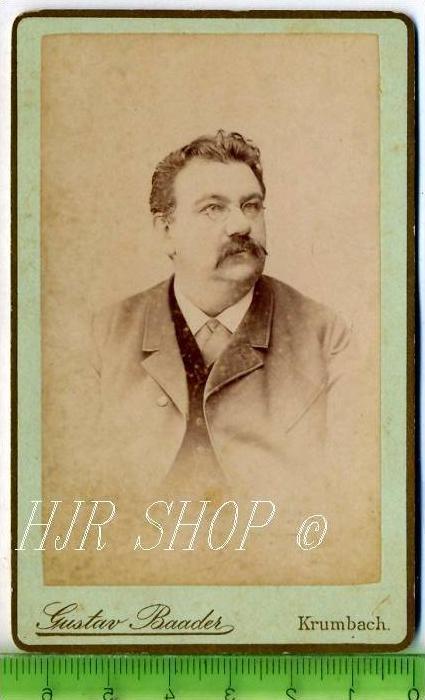 Gustav Baader, Krumbach vor 1900 kl.. Format, s/w., I-II,