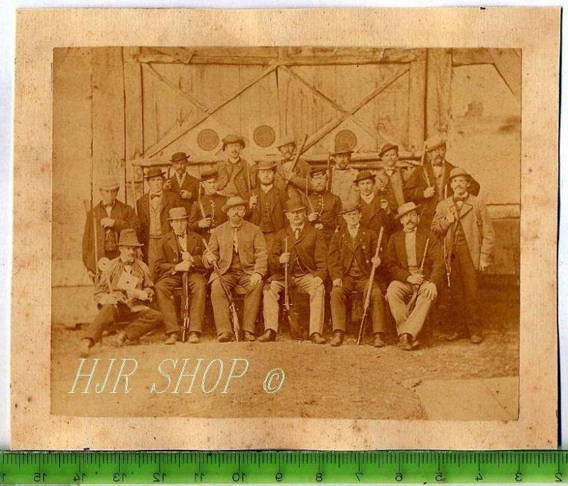 Schützenverein, vor 1900 Gr. 11 x 14 cm Format, s/w., I-II,