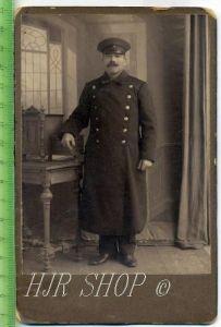 Eisenbahner in Uniform Gr. Format, s/w., I-II,