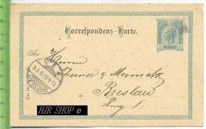Postkarte, Correspodenz nach Breslau