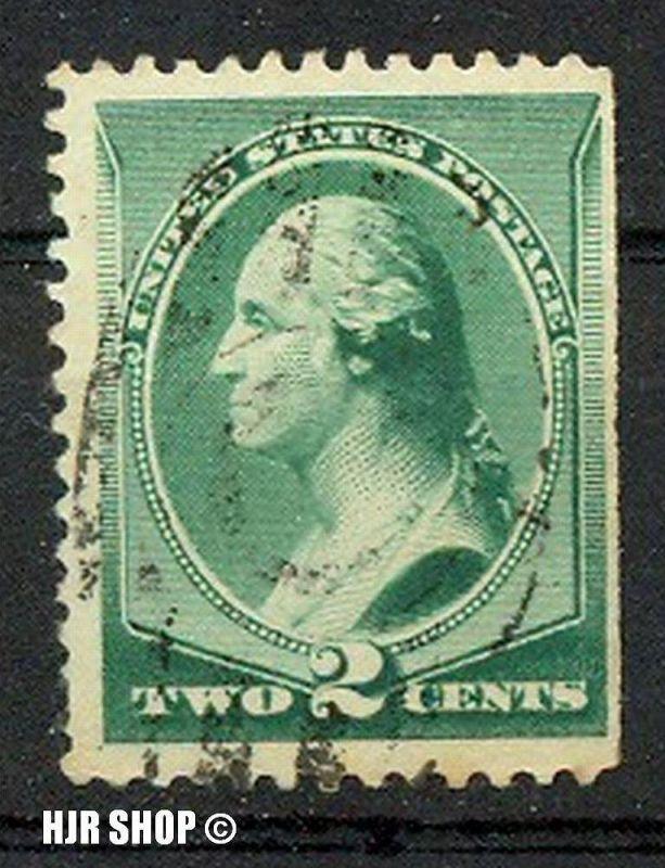 1887, 11.Juni/1888, 21.Nov. Freimarken, Mnr. 54, gest. rechts geschnitten