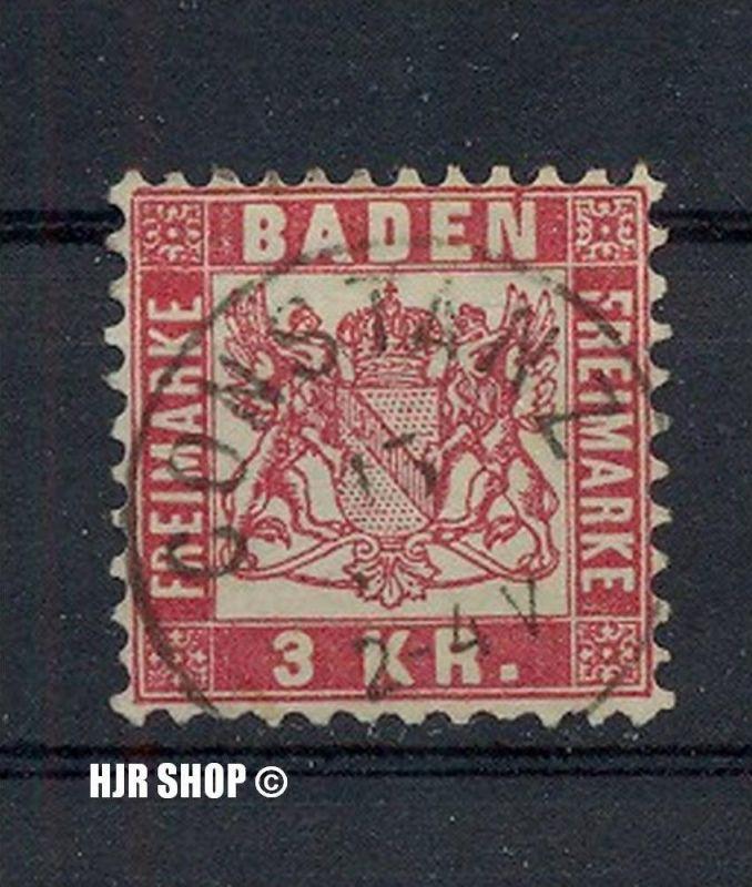 1868, 1. Okt. Freimarken: Wappen, Minr.24, 3 KR., gest.