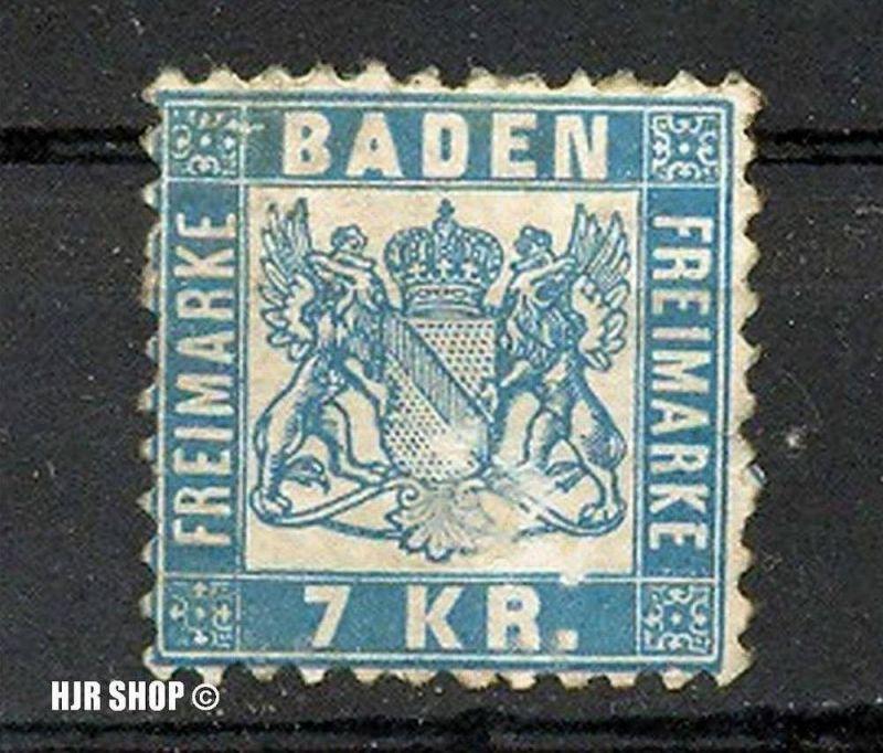 1868, 1. Okt. Freimarken: Wappen, Minr. 25, 7 KR. * etwas fleckig
