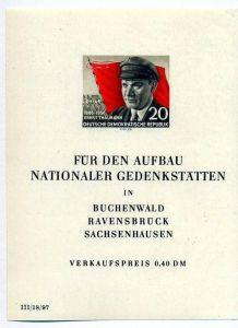 1956,16. April 70. Geburtstag v. Ernst Thälmann, Block 14